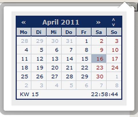 Calendar 的螢幕截圖