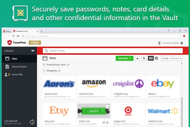 TweakPass: Free Password Manager extension - Opera add-ons