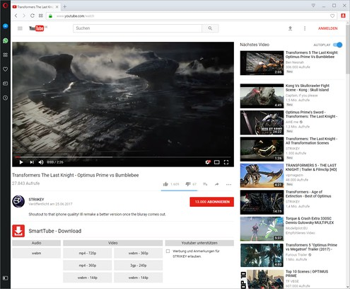 Screenshot di YouTube Download & Adblocker Smarttube