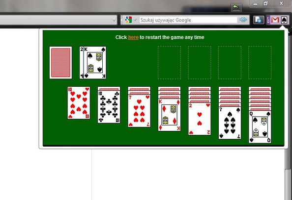 Screenshot di Solitaire