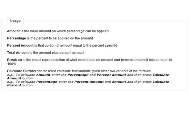 Percentage Calculator extension - Opera add-ons