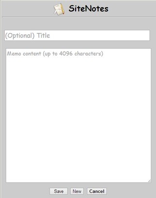Snímka balíka SiteNotes