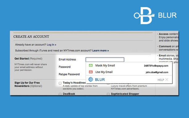 Blur: Protect your passwords, payments & privacy extension - Opera