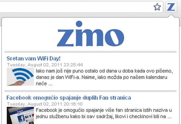 Copie d'écran pour Zimo