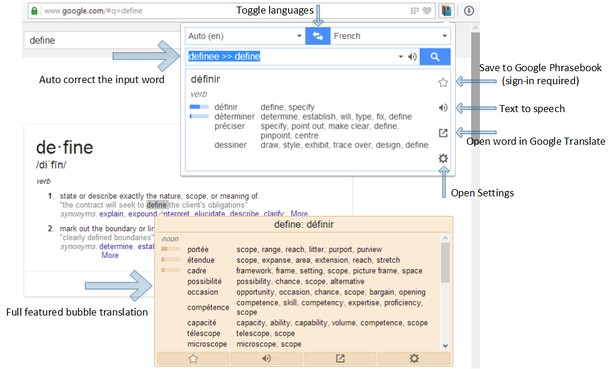 google translate french to english download