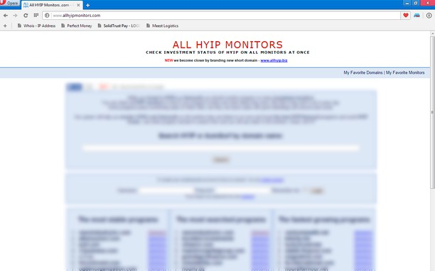 Screenshot di AllHYIPMonitors.com
