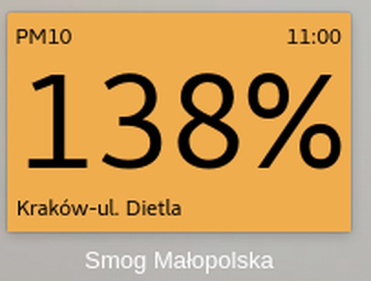 Skærmbillede for Kraków Smog Speed Dial