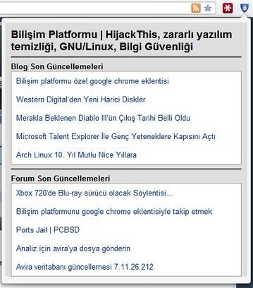 Bildschirmfoto für Bilişim Platformu