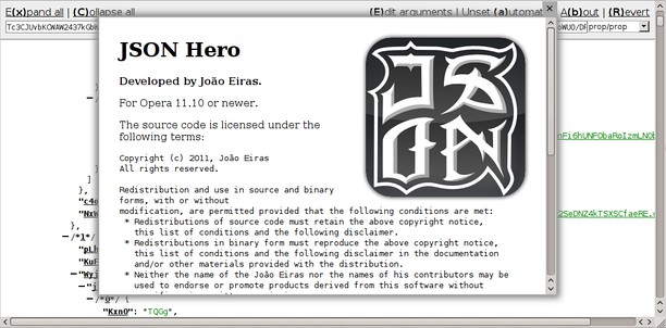 JSON hero extension - Opera add-ons