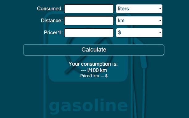 Screenshot for Average Fuel Consumption