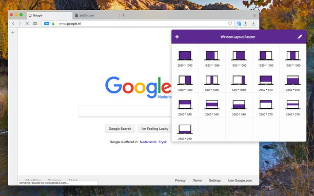 Captura de pantalla para Window Layout Resizer