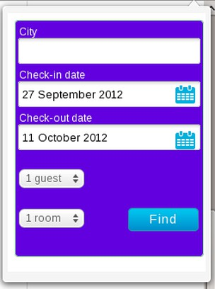 Screenshot for Search hotels