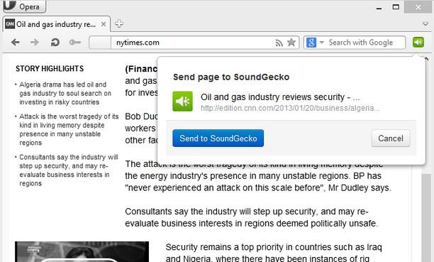 Screenshot for SoundGecko