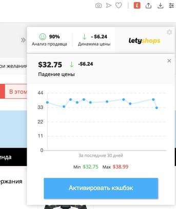 Letyshops расширение для оперы cash back ebay uk