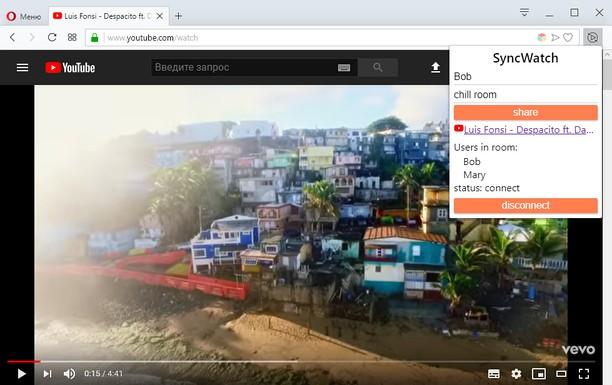 Snímek obrazovky pro SyncWatch