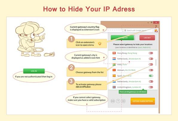 Hide My IP extension - Opera add-ons