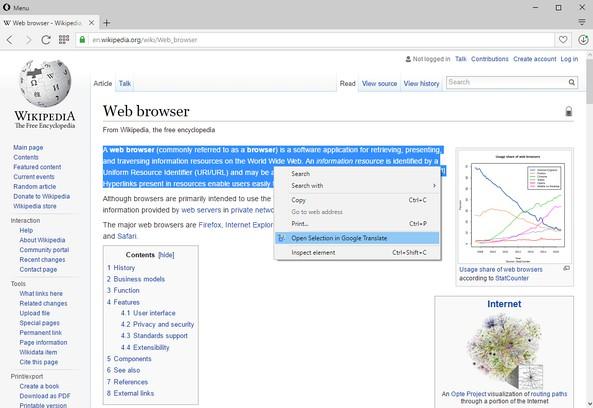 Extensão Open in Google™ Translate - Add-ons Opera