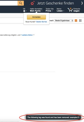 Снимок экрана для Amazon Tag Remover