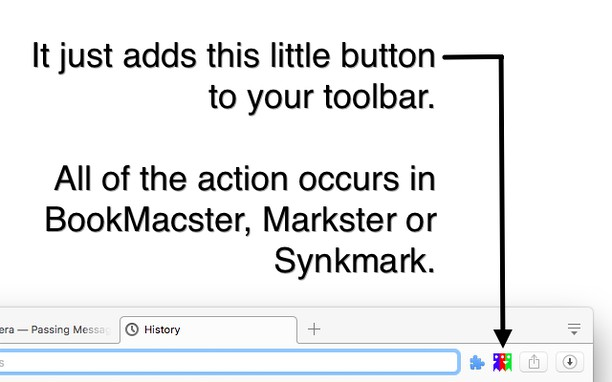 Здымак экрану для BookMacster Button