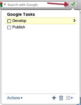 Screenshot di Google Tasks