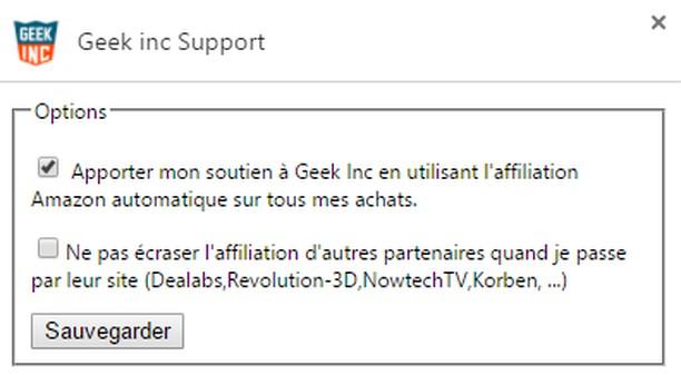 Copie d'écran pour Geek inc Support