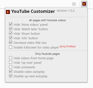 YouTube Customizer extension - Opera add-ons