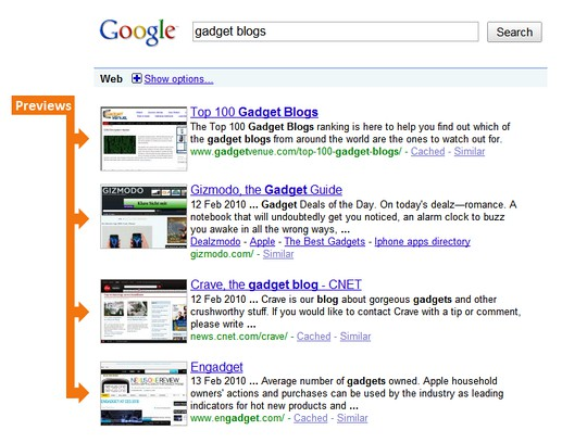 Screenshot for SearchPreview for Google