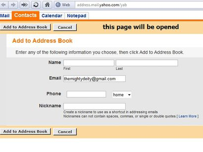 Email To Yahoo extension - Opera add-ons
