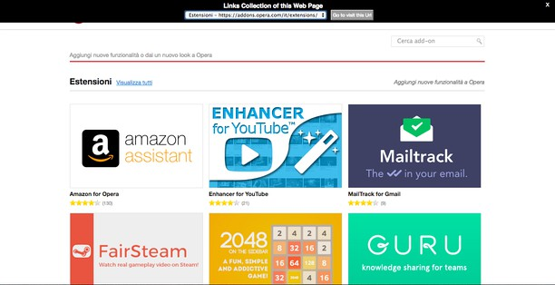 Links Explorer 的屏幕截图