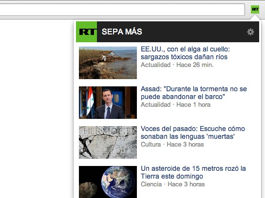 Captura de tela de RT Noticias