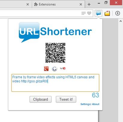 URLShortener extension - Opera add-ons
