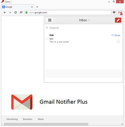 Здымак экрану для Fastest Gmail Notifier