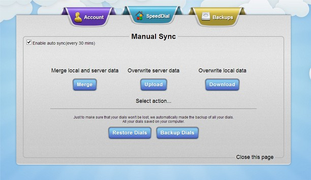 Captura de tela de EverSync - Sync dials, backup dials