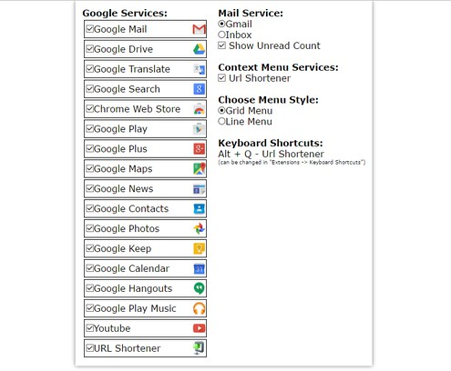 Google Services extension - Opera add-ons