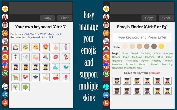 Emoji keyboard from EmojiSelector extension - Opera add-ons