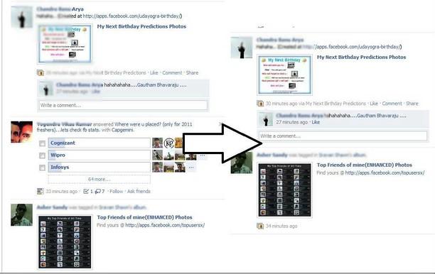 Zrzut ekranu pakietu Hide FB Questions