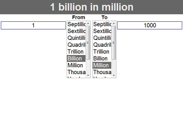 Screensfor How Many Millions In A Billion
