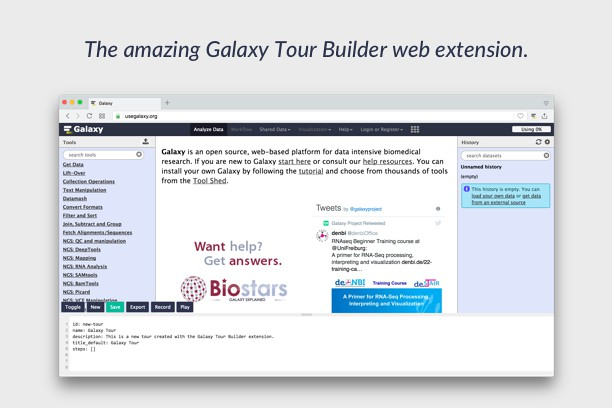Zrzut ekranu pakietu Galaxy Tour Builder