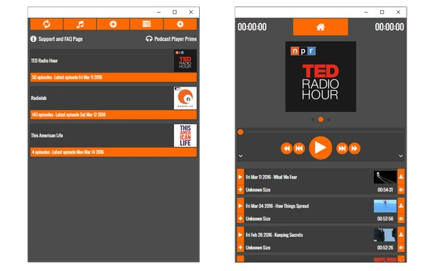 Podcast Player Prime extension - Opera add-ons