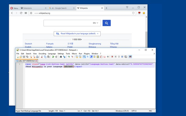 Screenshot para sa Edit with Notepad++