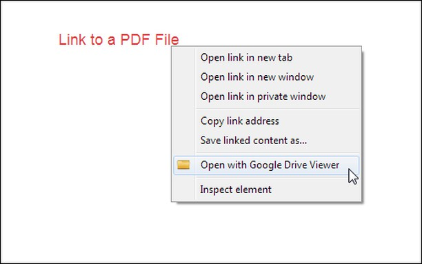 Captura de pantalla para Open with Google Drive Viewer