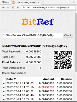 Screenshot for BitRef