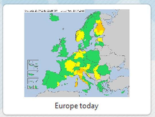 Screenshot for Meteoalarm