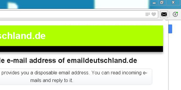 Schermafbeelding voor Disposable Email Address
