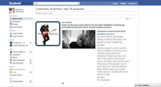 Copie d'écran pour Facebook Reader