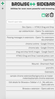 Browse++ Sidebar extension - Opera add-ons