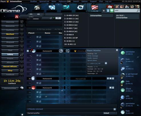 Captura de pantalla para UniverseView Extension