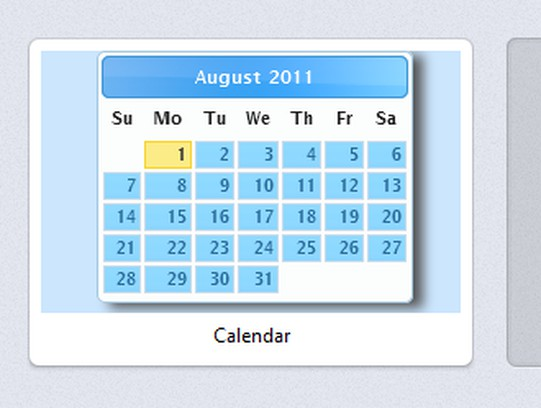 Screenshot di Calendar