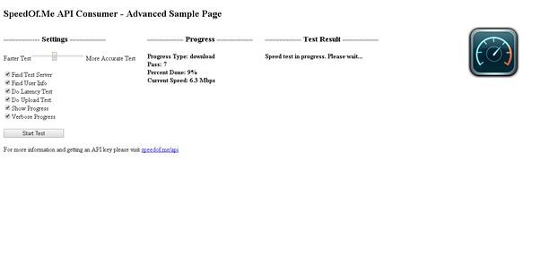 Снимок экрана для Internet Speed Test