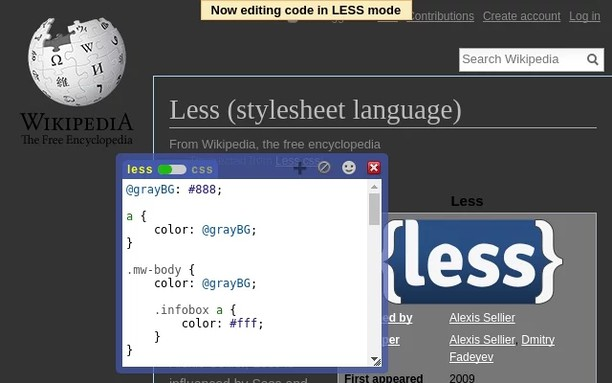 Live editor for CSS and LESS - Magic CSS 的屏幕截图